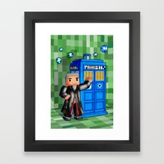 8bit 12th Doctor With Bl… Framed Art Print
