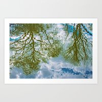 TREE-FLECTS Art Print