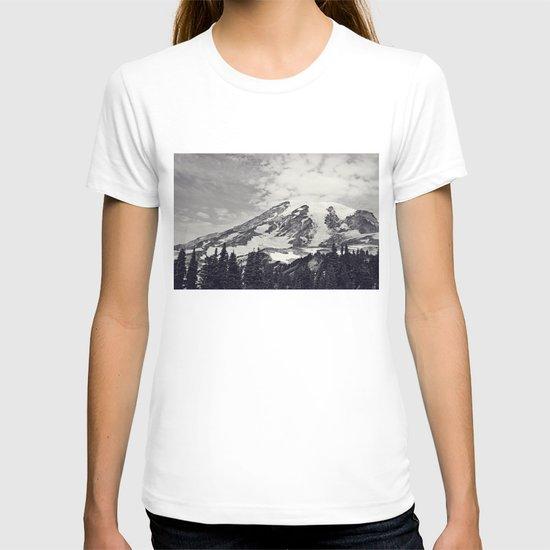 Mount Rainier B&W T-shirt