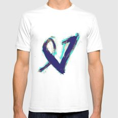 Paintbrush Heart Mens Fitted Tee White SMALL