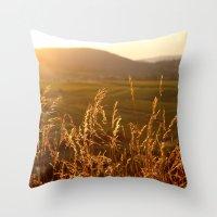 Gold Warm Light - JUSTAR… Throw Pillow