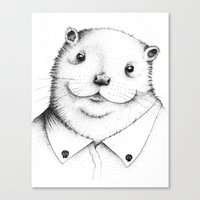 Cute Otter ! Canvas Print