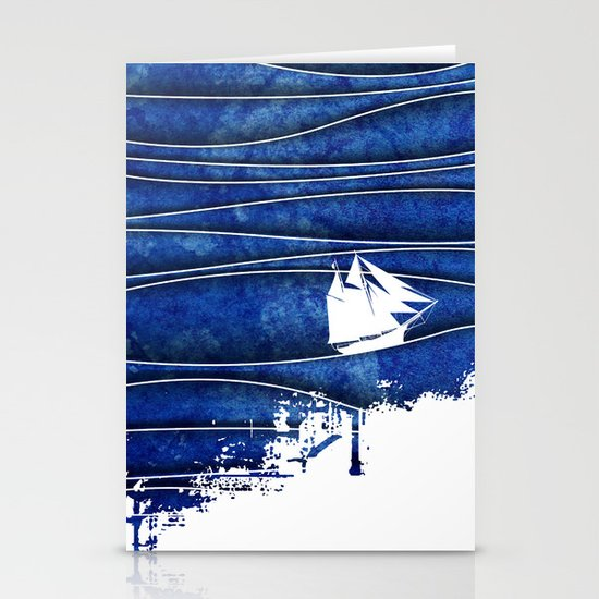 The Lonely Sea Stationery Card