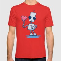 Ned's Heart Mens Fitted Tee Red SMALL