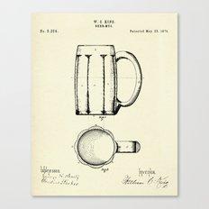 Beer Mug-1876 Canvas Print