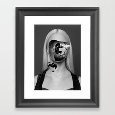 the Girl with no face Framed Art Print