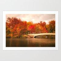 New York City Autumn Magic in Central Park Art Print