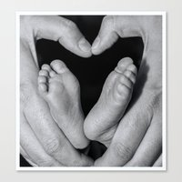 Hearts N Toes Canvas Print