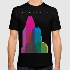 Shapes of Montreal. Accurate to scale. Mens Fitted Tee Black SMALL