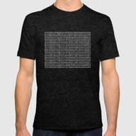 The Binary Code DOS Vers… Mens Fitted Tee Tri-Black LARGE