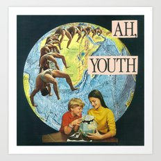 ah, youth Art Print
