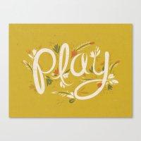 Play - Yellow Canvas Print