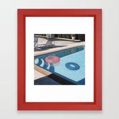 Pink Pool Inner Tube Framed Art Print
