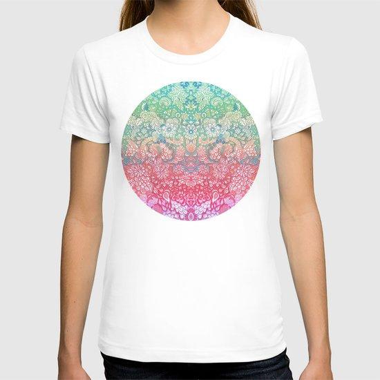 Soft Pastel Rainbow Doodle T-shirt