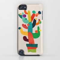 iPod Touch Cases featuring Whimsical Cactus by Budi Kwan