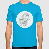 Vintage pug Mens Fitted Tee Teal SMALL