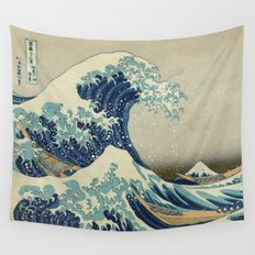 The Great Wave off Kanagawa Wall Tapestry