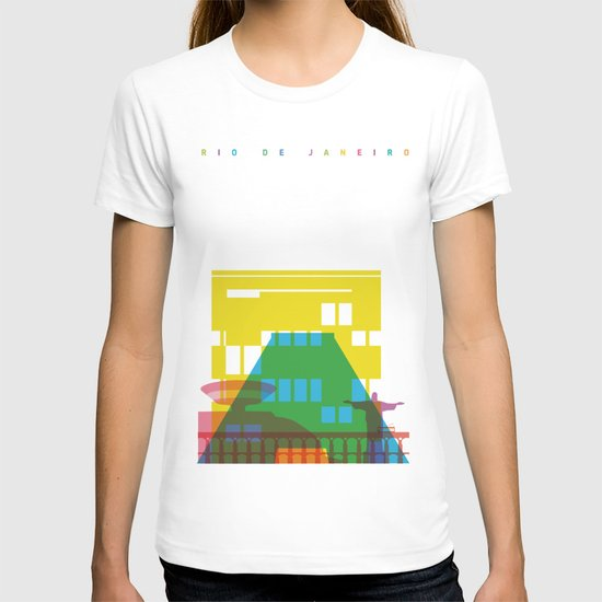 Shapes of Rio. Accurate to scale T-shirt