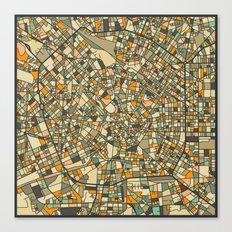 MILAN MAP Canvas Print