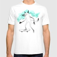 Fox Skateboarder Mens Fitted Tee White SMALL