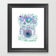 flower camera Framed Art Print