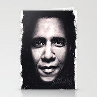 obama Stationery Cards featuring Barack Obama by Satanoncrack