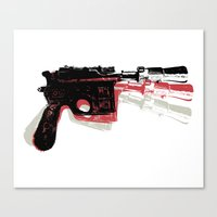 Blaster (Right) Canvas Print