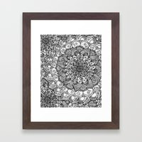 Shades Of Grey - Mono Fl… Framed Art Print