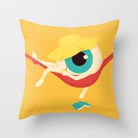 Lazy Eye Throw Pillow