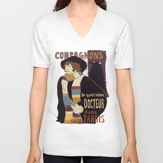 Le Fourth Doctor V-neck T-shirt