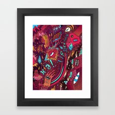 mash and sleep Framed Art Print