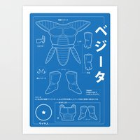 ベジータ - Vegeta Kit Art Print