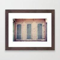 Three Shutters - New Orleans French Quarter Framed Art Print