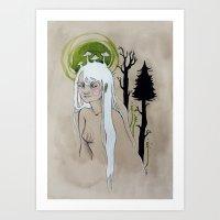 Unimpressed Wood Nymph Art Print