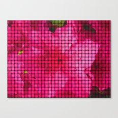 flowing flower pink Canvas Print