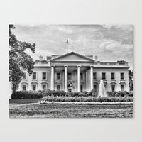 Canvas Print featuring White House by Christine Workman