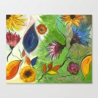 Flower Swirls Canvas Print