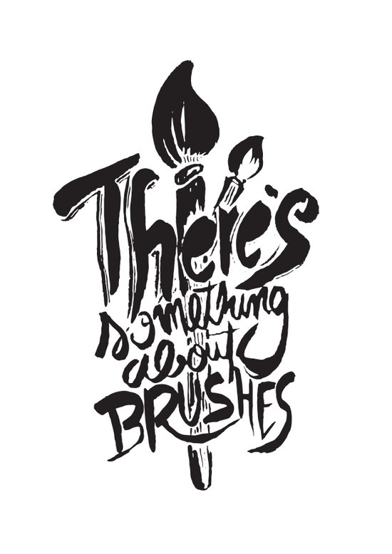 There's something about brushes Art Print