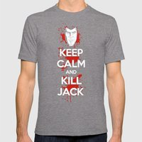 Keep Calm And Kill Jack Mens Fitted Tee Tri-Grey SMALL
