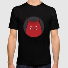 Evil Monster With Pointy Ears Mens Fitted Tee SMALL Black