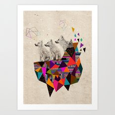 The Night Playground by Peter Striffolino and Kris Tate Art Print