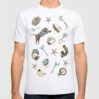 pattern Mens Fitted Tee Ash Grey SMALL