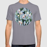 Waiting On The Blooming … Mens Fitted Tee Slate SMALL