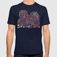 Junk Hearts Mens Fitted Tee Navy SMALL