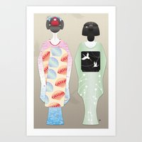 Geisha Maiko Summer Art Print