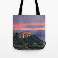 The Alhambra And Granada… Tote Bag