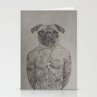 2 Pug Stationery Cards