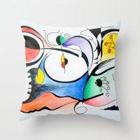 Aurora Boreal Throw Pillow
