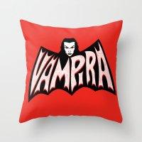 Vampira! Throw Pillow