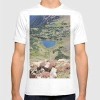 Blue Lake Mens Fitted Tee White SMALL